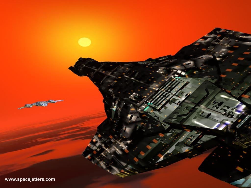 alien spaceship picture - desktop wallpaper